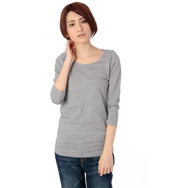 【ビームス ウィメン/BEAMS WOMEN】 ラメメロー 7分袖Tシャツ [送料無料]