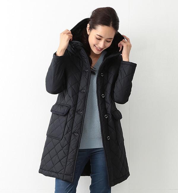 """【ビームス ウィメン/BEAMS WOMEN】 Traditional Weatherwear / """"GRANGE"""" ボア キルトコート [送料無料]"""