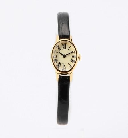 【ビームス ウィメン/BEAMS WOMEN】 オーバル 型押レザー 腕時計 [送料無料]