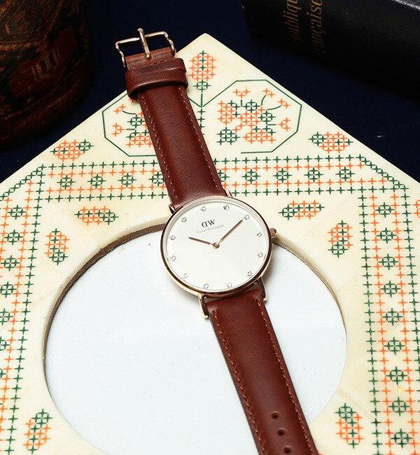 DANIEL WELLINGTON / Classy Sheffield ローズゴールド 34mm【ビームス ウィメン/BEAMS WOMEN レディス 腕時計 BROWN ルミネ LUMINE】