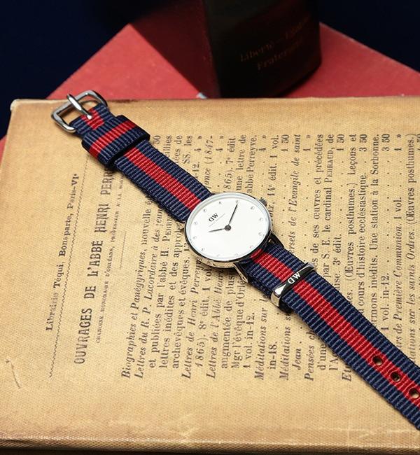 DANIEL WELLINGTON / Classy Glasgow シルバー 26mm【ビームス ウィメン/BEAMS WOMEN レディス 腕時計 NAVY/RED ルミネ LUMINE】