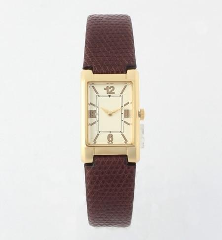 【ビームス ウィメン/BEAMS WOMEN】 レクタンギュラー型押 腕時計 [送料無料]