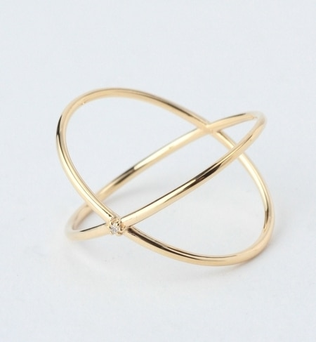 【ビームス ウィメン/BEAMS WOMEN】 K10ダイヤ クロスリング [送料無料]