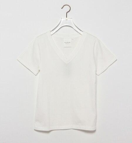 【ビームス ウィメン/BEAMS WOMEN】 タックリブ 天竺 Vネック Tシャツ [送料無料]