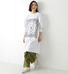 【ビームス ウィメン/BEAMS WOMEN】 CHED / バンダナ パッチ Tシャツワンピース [送料無料]