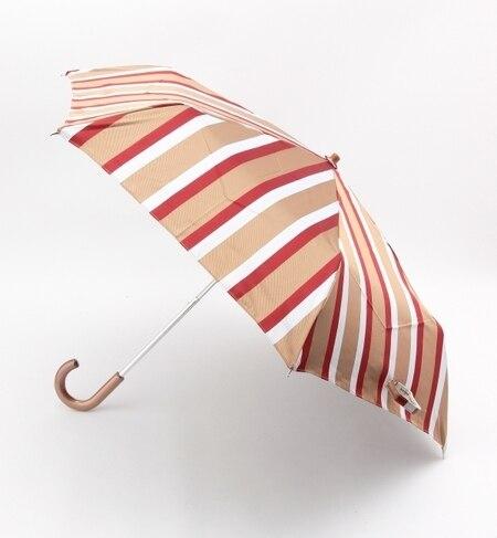【ビームス ウィメン/BEAMS WOMEN】 ASAUCE MELER / ストライプ折りたたみ傘 [送料無料]