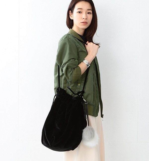 【ビームス ウィメン/BEAMS WOMEN】 Casselini / ポンポン 巾着バッグ [送料無料]