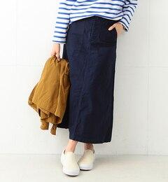【ビームス ウィメン/BEAMS WOMEN】 バックサテン 4ポケット ミリタリーロングスカート [送料無料]