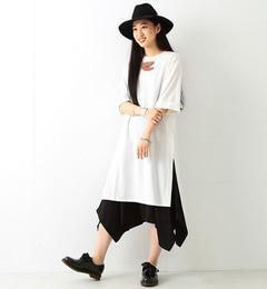 【ビームス ウィメン/BEAMS WOMEN】 サイドスリット ロング Tシャツ [送料無料]