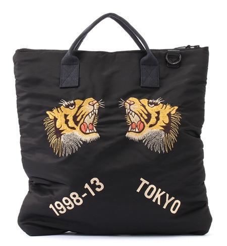 【ビームス ウィメン/BEAMS WOMEN】 TAILOR TOYO×BEAMS BOY / スカ刺繍 2WAY ヘルメットバッグ [送料無料]
