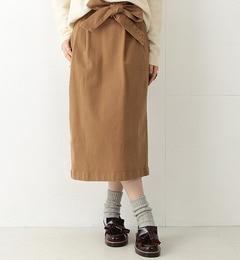 【ビームス ウィメン/BEAMS WOMEN】 リボン ベルト ロング タイトスカート [送料無料]