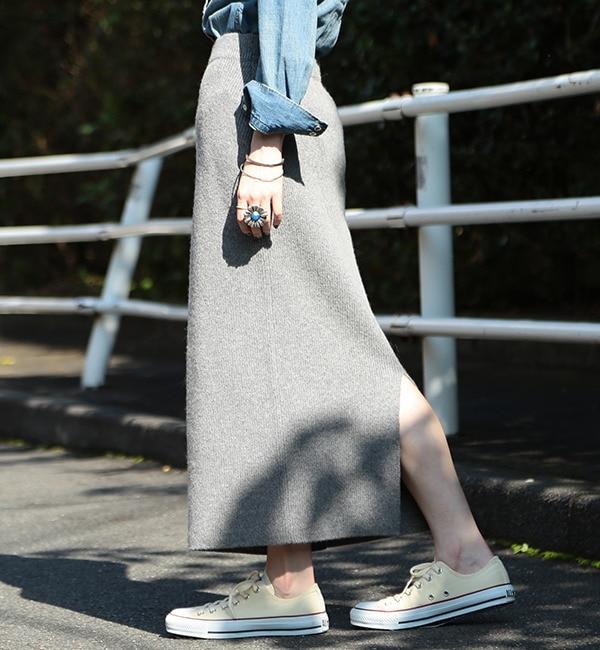 【ビームス ウィメン/BEAMS WOMEN】 【WEB限定】ニット ロング タイト スカート [送料無料]
