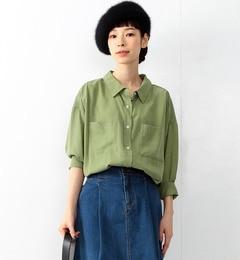【ビームスウィメン/BEAMSWOMEN】Wポケットビッグシャツ[送料無料]