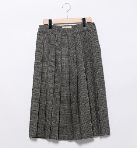 【ビームス ウィメン/BEAMS WOMEN】 ウール タータンチェック プリーツスカート [送料無料]