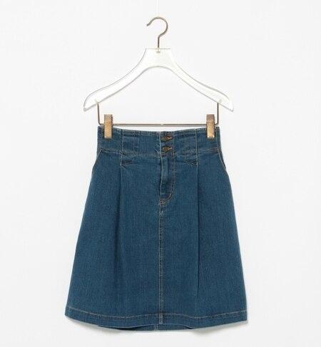 【ビームス ウィメン/BEAMS WOMEN】 デニム 1タック Aライン スカート [送料無料]