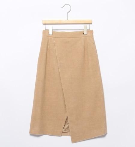 【ビームス ウィメン/BEAMS WOMEN】 キャメルコールラップ風スカート [送料無料]