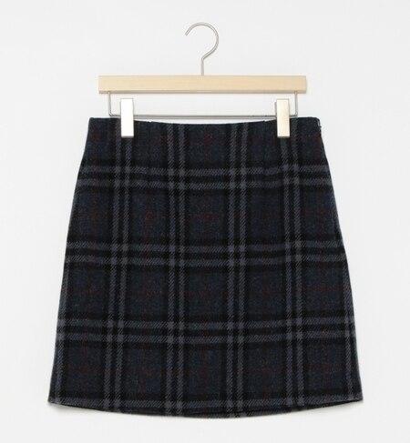 【ビームス ウィメン/BEAMS WOMEN】 HARRIS TWEED 台形チェック スカート [送料無料]