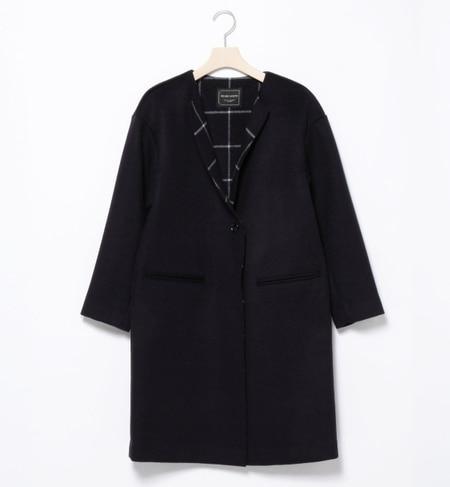 【ビームス ウィメン/BEAMS WOMEN】 ダブルフェイス ノーカラーコート [送料無料]