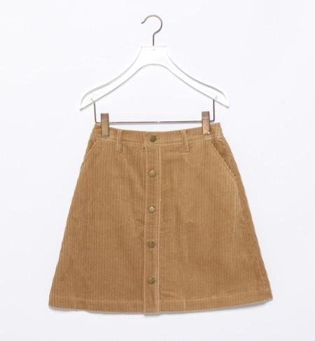【ビームス ウィメン/BEAMS WOMEN】 コーデュロイ ボタン ミニ スカート [送料無料]