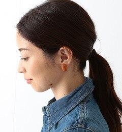 【ビームス ウィメン/BEAMS WOMEN】 天然石 オーバルイヤリング [送料無料]