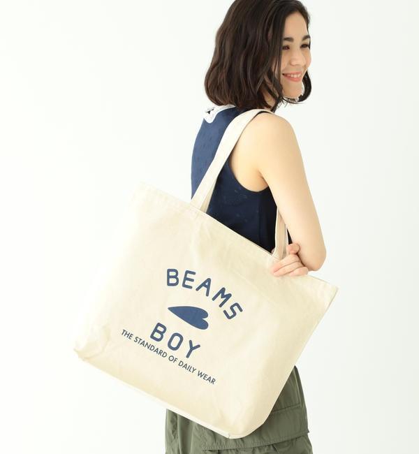 【ビームス ウィメン/BEAMS WOMEN】 【WEB限定】BEAMS BOY / BB ロゴ TOTE BAG (L)