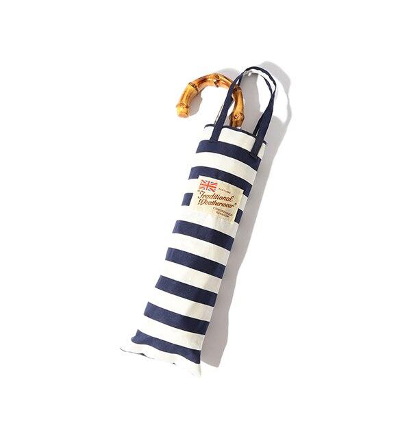 【ビームス ウィメン/BEAMS WOMEN】 【予約】【WEB限定】Traditional Weatherwear / ボーダー FOLDING BAMBOO 折りたたみ傘 [送料無料]