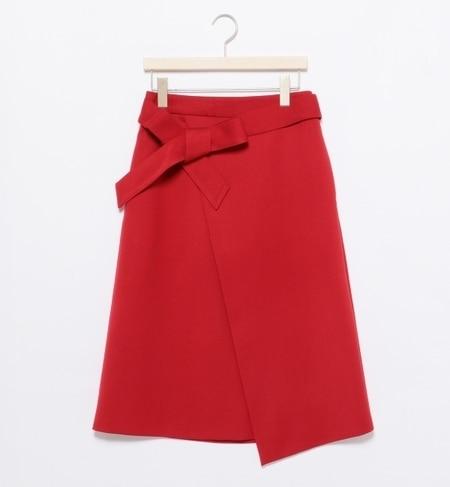 【ビームス ウィメン/BEAMS WOMEN】 ウエストリボン ラップスカート [送料無料]