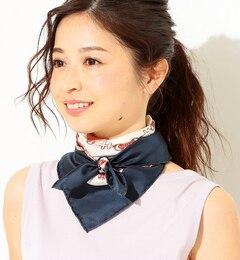 【ビームス ウィメン/BEAMS WOMEN】 【カタログ掲載】【CLASSY.6月号掲載】manipuri / 別注 スカーフ フレンチメダルリボンプリント [送料無料]