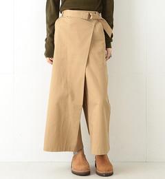【ビームスウィメン/BEAMSWOMEN】ベルテッドラップパンツ[送料無料]