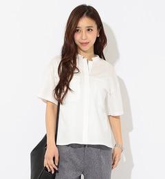 【ビームスウィメン/BEAMSWOMEN】ウォッシャブルサテンポケットシャツ[送料無料]