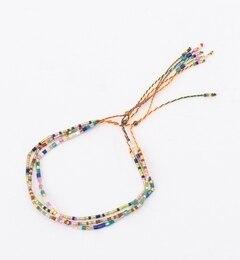 【ビームス ウィメン/BEAMS WOMEN】 MATSUNO GLASS BEADS×Ray BEAMS / 別注 3ライン ビーズ ブレスレット [3000円(税込)以上で送料無料]