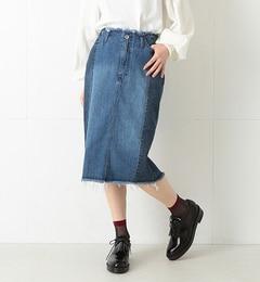 【ビームスウィメン/BEAMSWOMEN】デニム切り替えタイトスカート[送料無料]