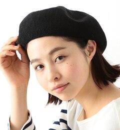 【ビームス ウィメン/BEAMS WOMEN】 リネン 配色 ベレー帽 [送料無料]