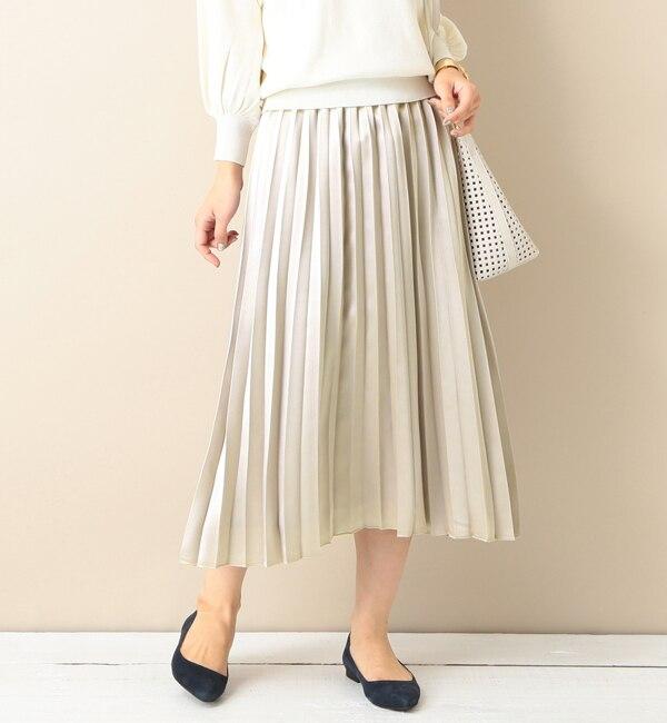 【ビームス ウィメン/BEAMS WOMEN】 【予約】ウォッシャブル マットラメ プリーツスカート [送料無料]