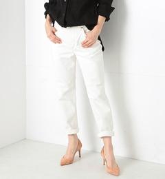 【ビームス ウィメン/BEAMS WOMEN】 Lee / アンクルテーパード ホワイトデニムパンツ [送料無料]