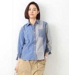 【ビームスウィメン/BEAMSWOMEN】ストライプクレイジーパターンシャツ[送料無料]