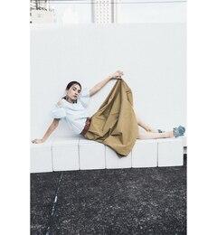 【ビームス ウィメン/BEAMS WOMEN】 ツイル アシメ タック ロング スカート [送料無料]