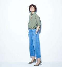 【ビームスウィメン/BEAMSWOMEN】YoshikoTomiokaForREDCARD/セーラーデニムパンツ[送料無料]