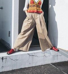【ビームス ウィメン/BEAMS WOMEN】 【otona MUSE 6月号掲載】リボンベルト ワイドパンツ [送料無料]