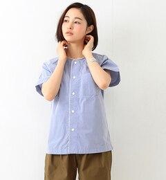 【ビームスウィメン/BEAMSWOMEN】パイピングスナップVネックシャツ[送料無料]