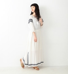 【ビームス ウィメン/BEAMS WOMEN】 【一部予約】エスニック シシュウ マキシワンピース [送料無料]