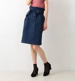 【ビームス ウィメン/BEAMS WOMEN】 リボン ベルト タックタイトスカート [送料無料]