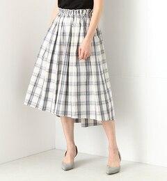 【ビームス ウィメン/BEAMS WOMEN】 チェック ギャザースカート [送料無料]