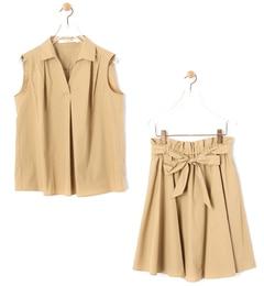 【ビームス ウィメン/BEAMS WOMEN】 スキッパー シャツ+スカート セット [送料無料]