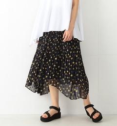 【ビームス ウィメン/BEAMS WOMEN】 フラワー プリント プリーツスカート [送料無料]