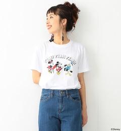 【ビームス ウィメン/BEAMS WOMEN】 FUJI ROCK FESTIVAL'17× Ray BEAMS / Yusuke Hanai ミッキーマウス YEAH YEAH YEAH Tシャツ [送料無料]