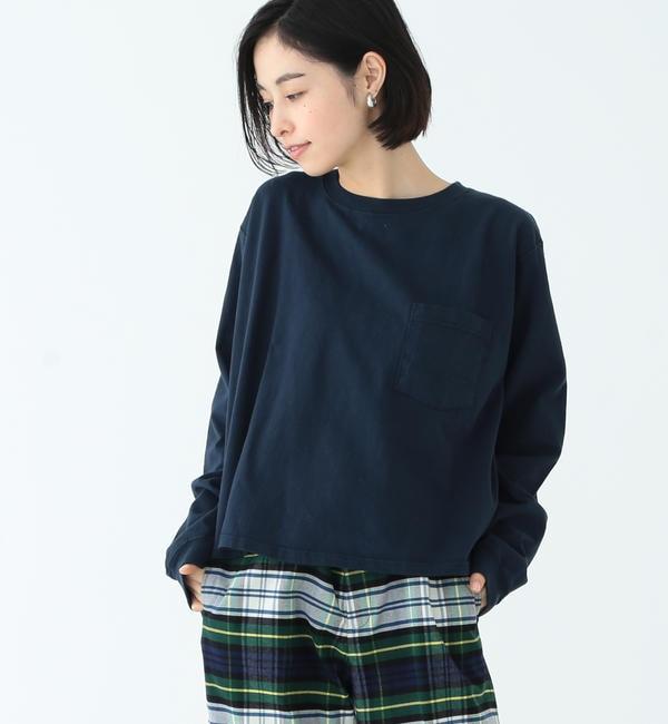 【ビームス ウィメン/BEAMS WOMEN】 Goodwear / カスタム ビッグ ロングスリーブ Tシャツ