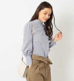 【ビームス ウィメン/BEAMS WOMEN】 スタンドカラー ストレッチシャツ [送料無料]