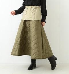 RBS / キルト レイヤード スカート【ビームス ウィメン/BEAMS WOMEN レディス スカート D.GREEN ルミネ LUMINE】