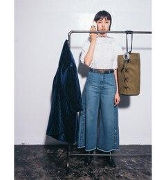 【ビームス ウィメン/BEAMS WOMEN】 サイド ボタン デニム フレア パンツ [送料無料]